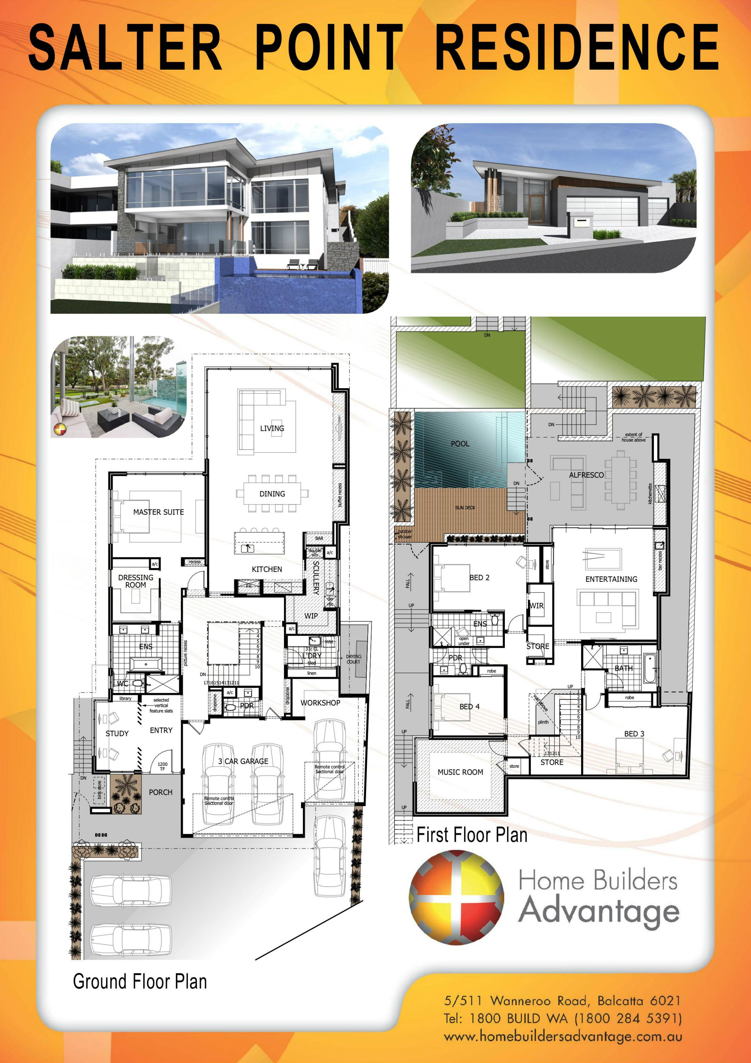 Homebuildersadvantage Com Au Wp Content Uploads 2016 12 Salter Point Residence Jpg New House Plans Split Level House Plans Floor Plans