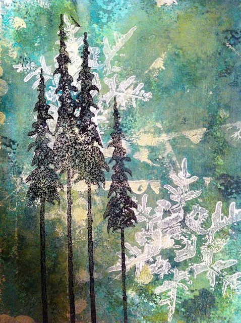 Christmas Background using Inks and Paints. #mixedmedia #handmadecards