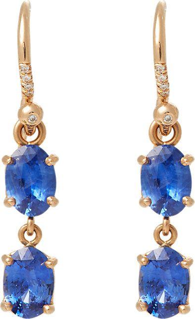 Irene Neuwirth Rose-gold earrings z0zlkh5