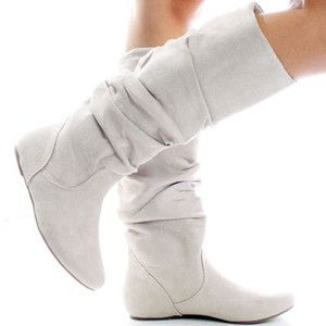 flat+white+boots   Winter White Suede