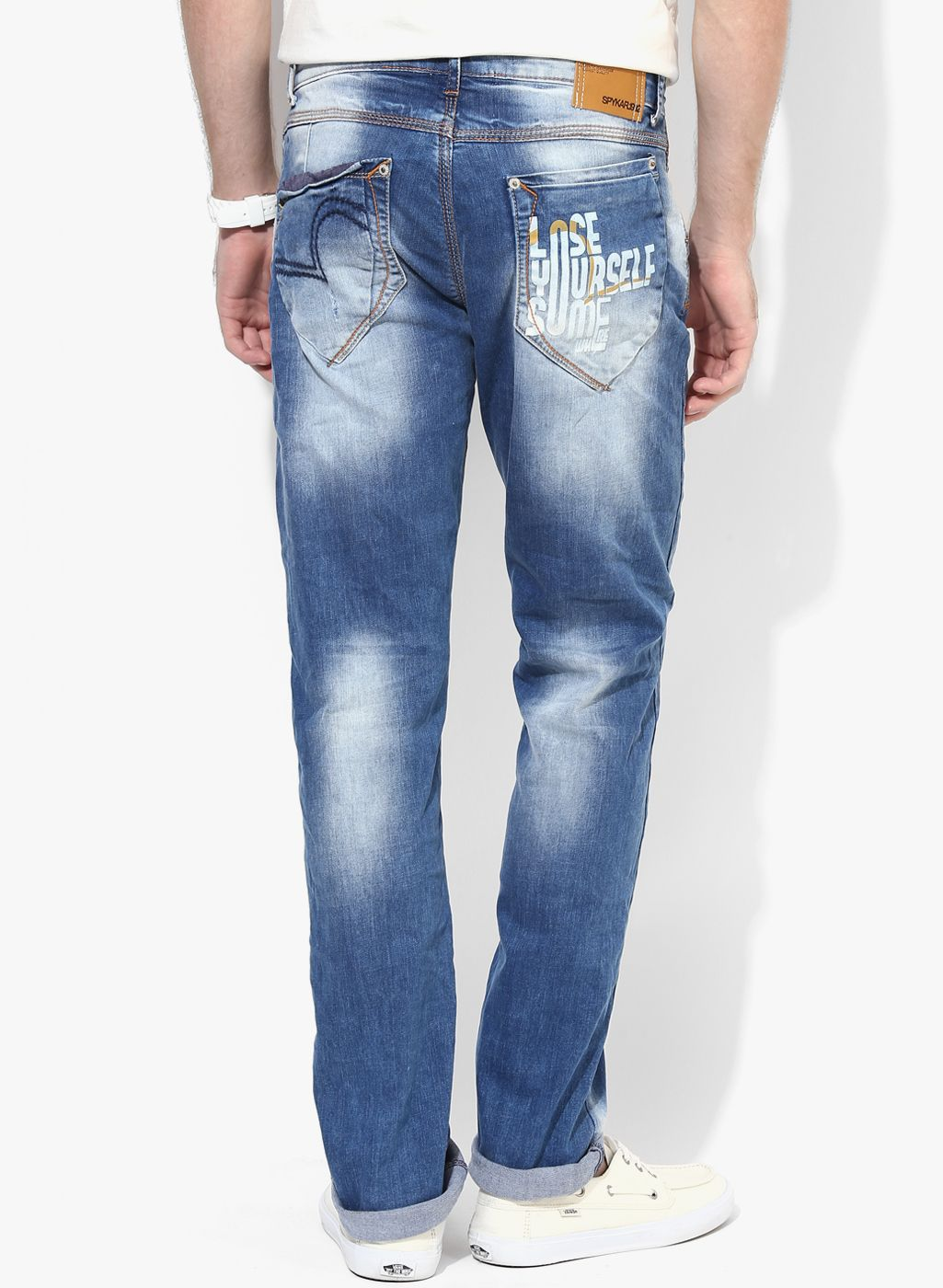 Buy Spykar Blue Mid Rise Narrow Fit Jeans for Men Online India, Best Prices,