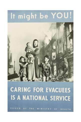 SHE/'S IN THE RANKS TOO CARING FOR EVACUEES British WW2 Propaganda Poster