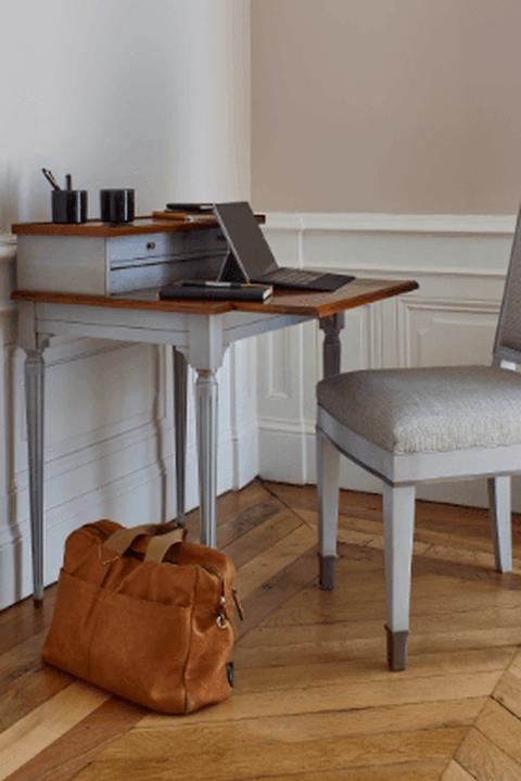Table Ordinateur De Grange Decoration Maison Bureau Gain De Place Table