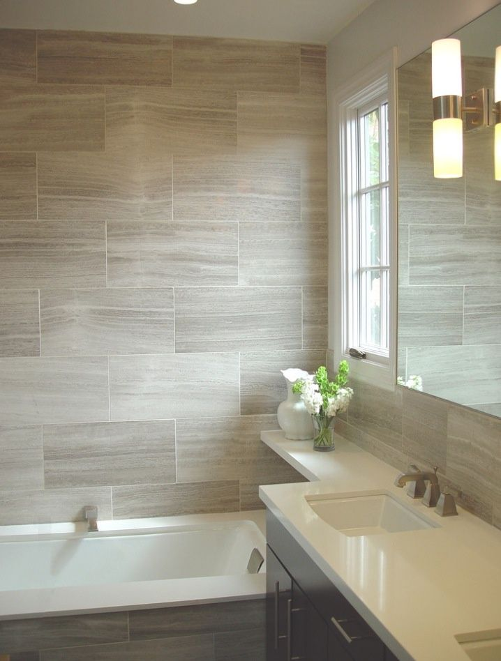 Beautiful Wood Grain Tile Bathroom Ideas   Google Search
