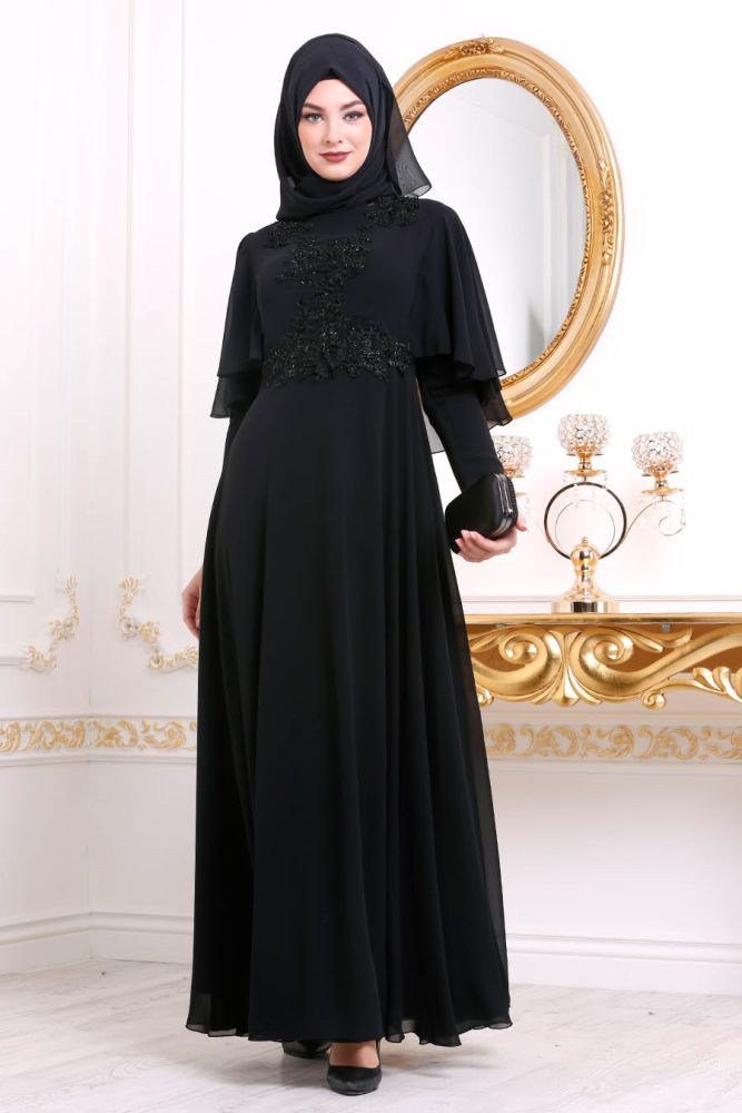 11 dress Muslim hitam ideas