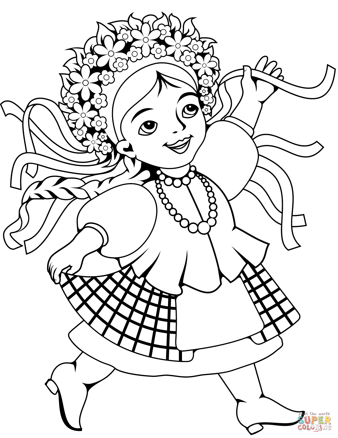 Ukrainian Woman Coloring Page Free Printable Coloring Pages Coloring Pages Christmas Coloring Pages Ukrainian Christmas