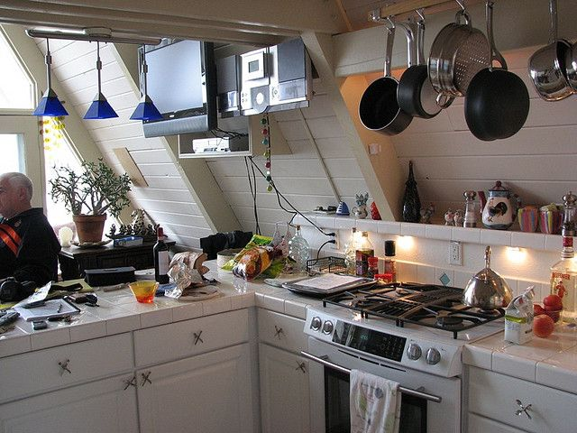 Fancy Shmancy Kitchen A Frame House Kitchen Cabinet Design Tiny House Cabin