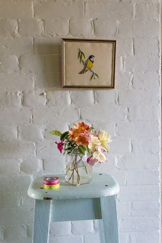 Ingrid Weir. Naturalist rose stool.