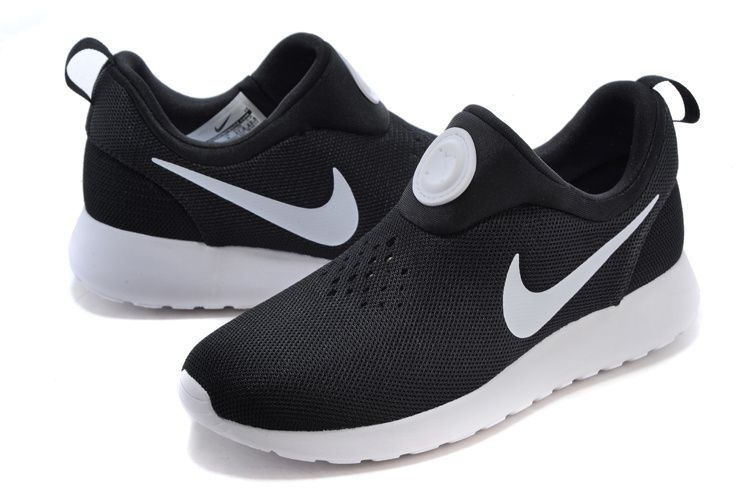 Nike Roshe Run Womens Black white Shoes | Nike shoes for