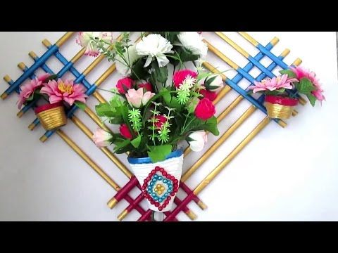Newspaper Flower vase | Flower pot | Best out of Waste | DIY | Art with Creativity 187 - YouTube & Newspaper Flower vase | Flower pot | Best out of Waste | DIY | Art ...