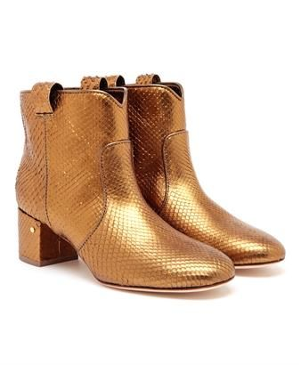 The A to Z of Shoe Shopping: D is for Laurence Dacade - glittering more than perfection in python - LAURENCE DACADE - Belen Metallic Python Ankle Boots