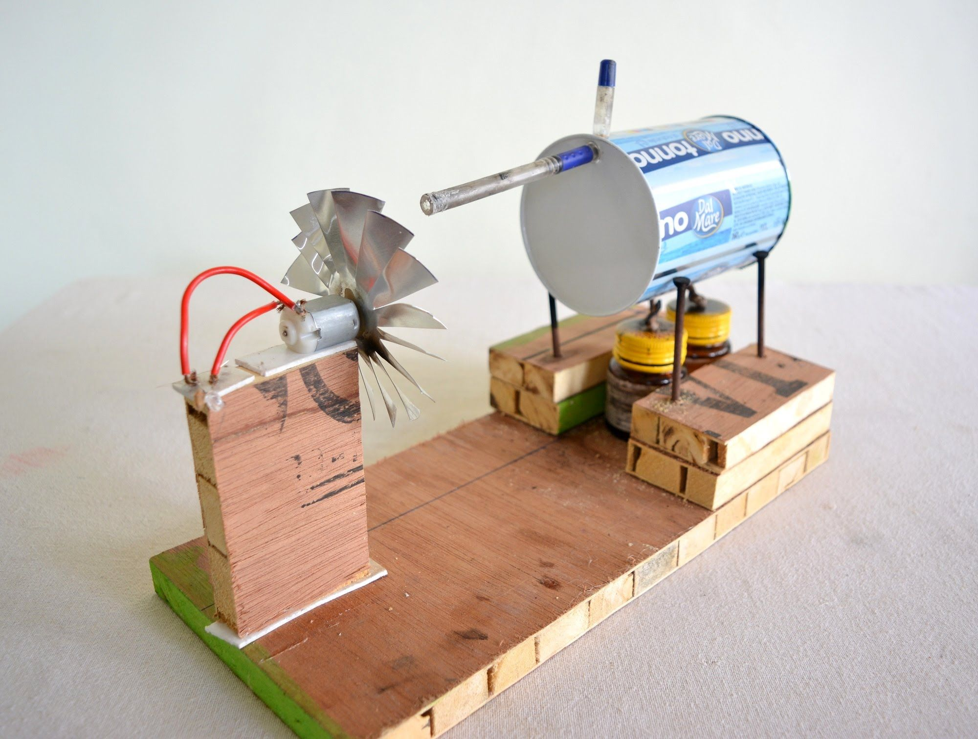 Simple Project On Hydro Electric Power Station With Turbine Modal