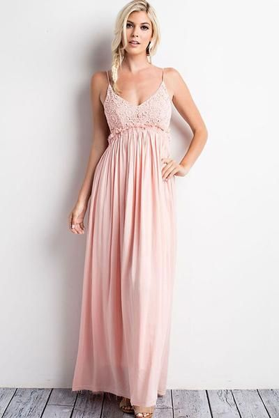 a1b6bb8492f Something Special Crochet Maxi Dress - Blush - ShopLuckyDuck - 1 ...