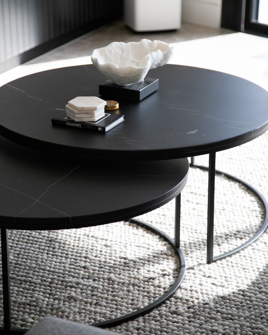 Globewest On Instagram Accent Your Space With The Elle Round Marble Nest Coffee Tables A Beautiful Set Ide Marble Round Coffee Table Coffee Table Furniture [ 1350 x 1080 Pixel ]