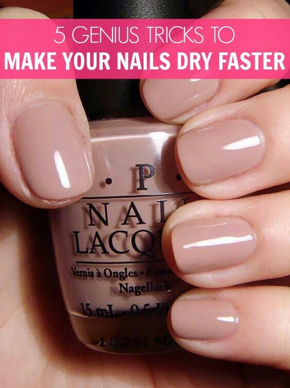 How to Make Your Nails Dry Faster | Nail drying, Makeup and Pedi