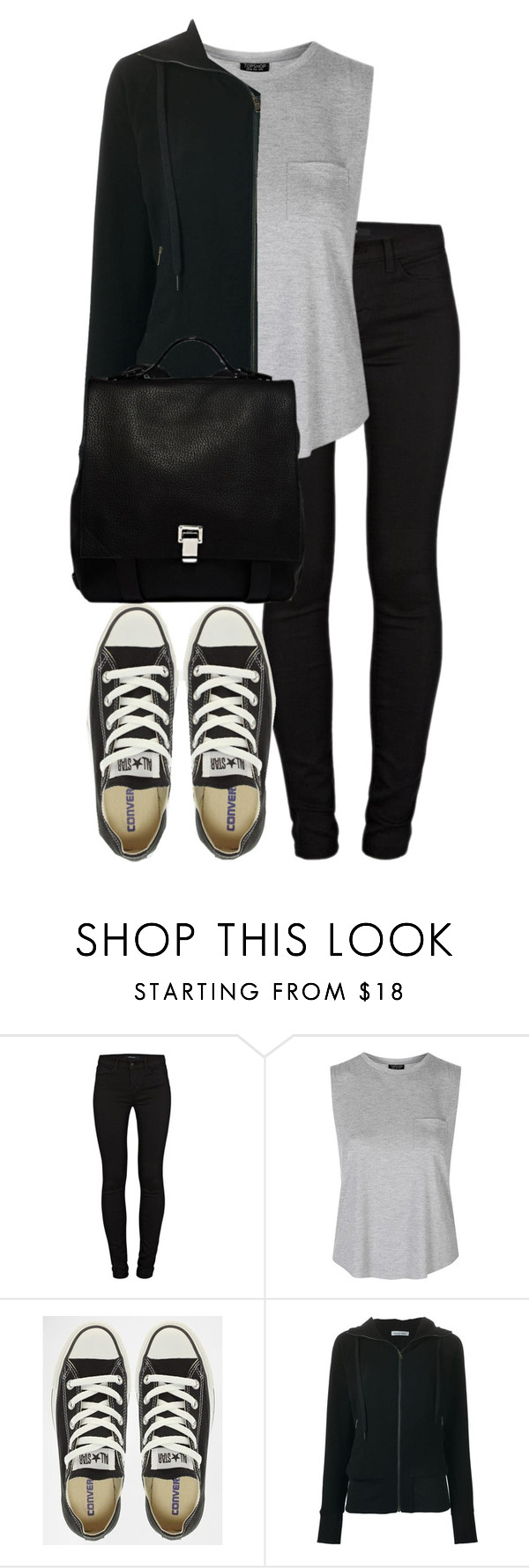 """""""Untitled #2653"""" by elenaday on Polyvore featuring J Brand, Topshop, Converse, Tomas Maier, Proenza Schouler, women's clothing, women, female, woman and misses"""