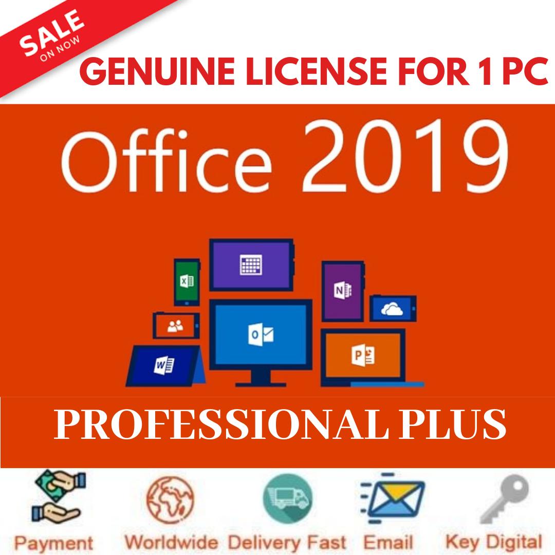 Office 2010 Professional Plus For 1 PC License 32-64Bit Digital Genuine