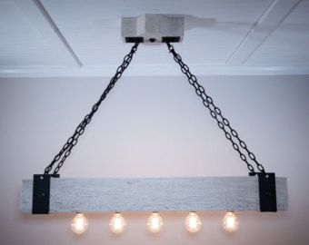 the scantling is a 6x6 beam chandelier with 5 edison bulbs it features custom hand