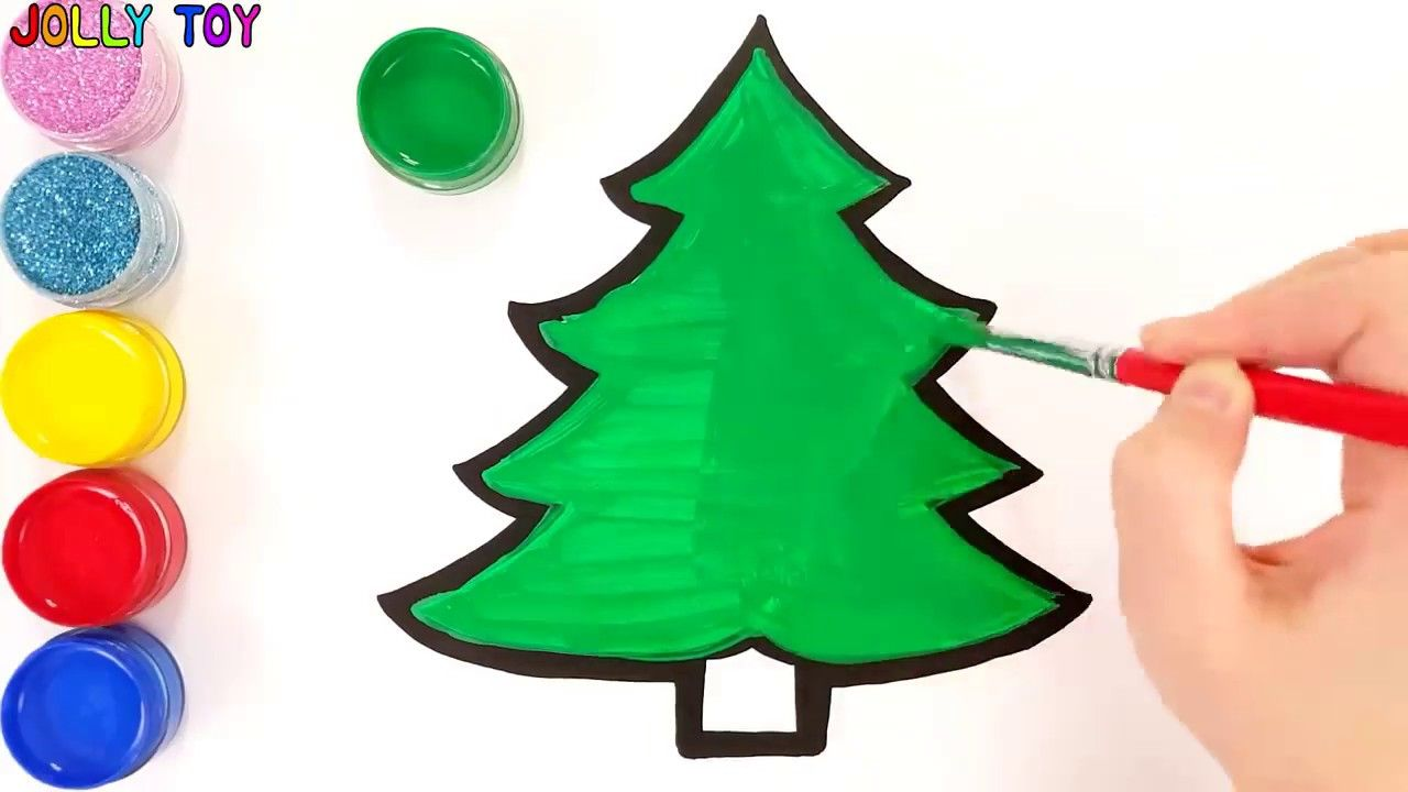 Glitter Christmas Tree Ornaments Coloring And Drawing For Kids