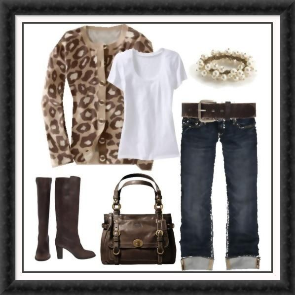 Just add animal print to make a simple outfit more