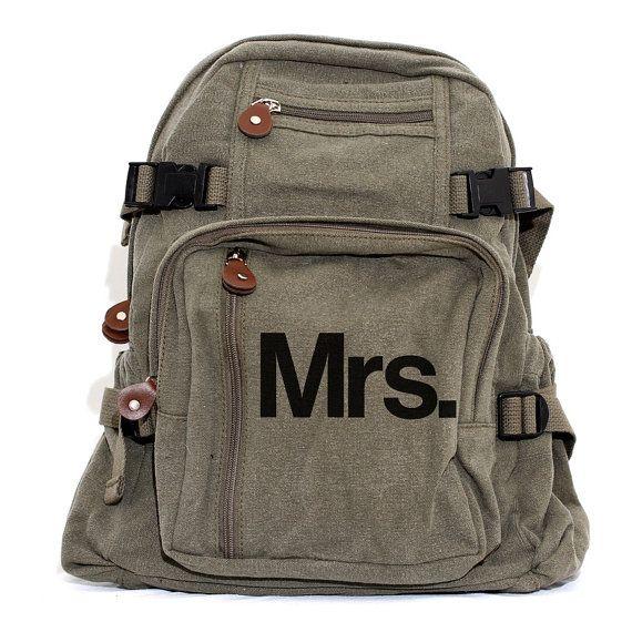 Backpack Bride To Be Gift Mr. & Mrs. Honeymoon by mediumcontrol