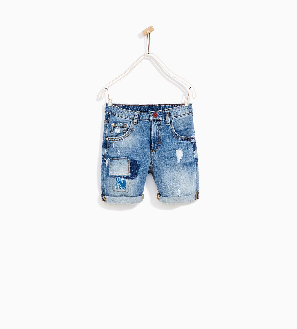 Denim Colombia Jeans 14 Niño4 Bermuda Años Niños Zara Parches xoreQdWBC