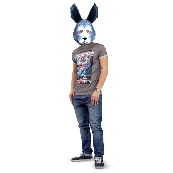 Hare printable paper mask template pinterest mask template hare mask from paper download diy 3d hare mask template http maxwellsz