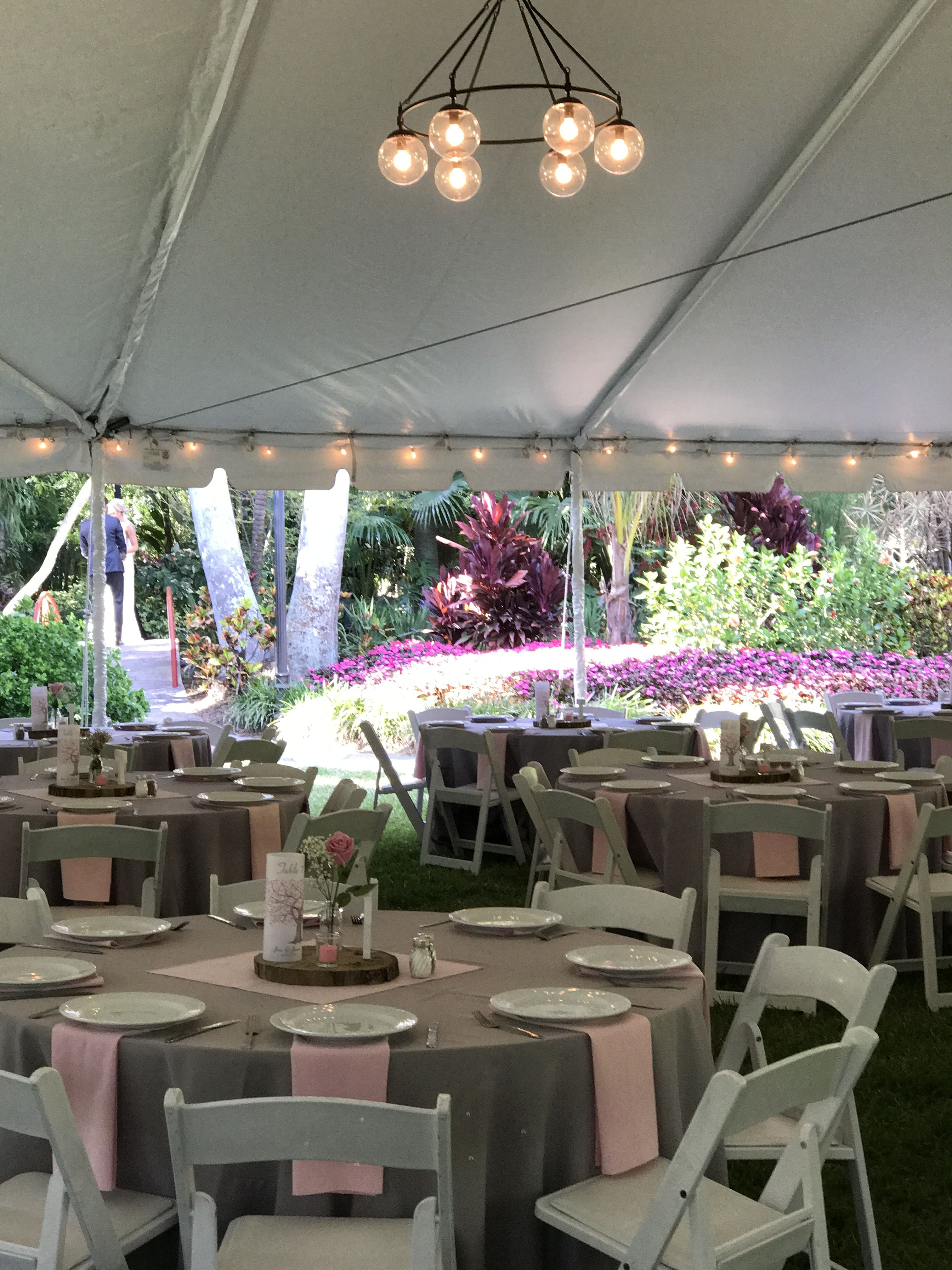 The garden tent for 154 guests Outdoor reception
