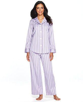 c7036df0e2f0 Lauren Ralph Lauren Notch Collar Top and Pajama Pants Set - Shop All ...