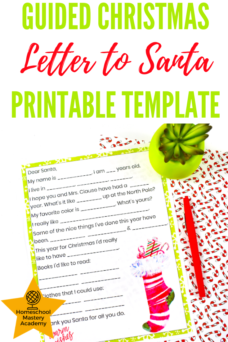 guided christmas letter to santa printable template | exclusive to