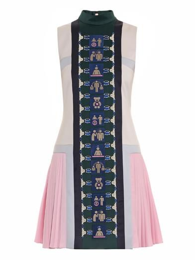 Stepa embroidered pleated dress by Mary Katrantzou