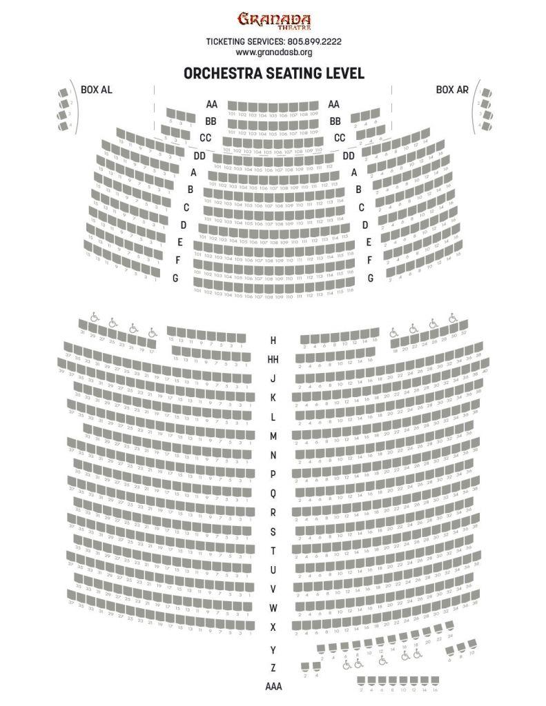 Granada Theater Seating Chart Di 2020