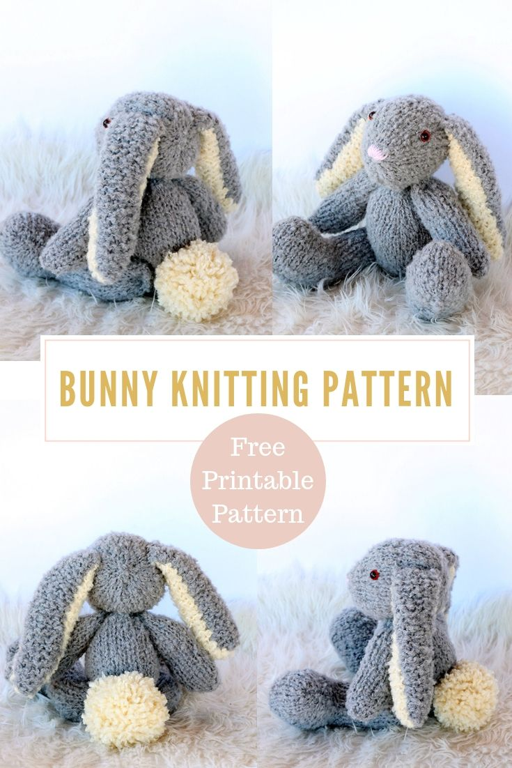 Photo of Easter Bunny Knitting Pattern Free