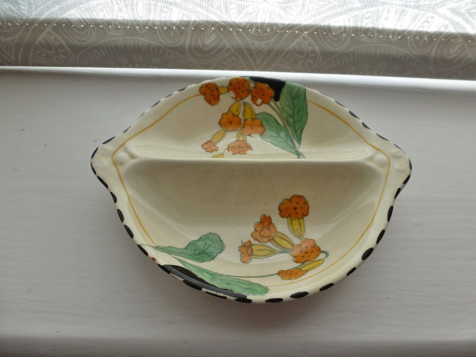 Art deco burleigh ware meadowland small two section butter u0026 preserve dish & Art deco burleigh ware meadowland small two section butter ...