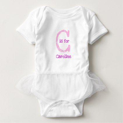 Pink customizable personalized baby name initial baby bodysuit pink customizable personalized baby name initial baby bodysuit shower gifts diy customize creative negle Choice Image