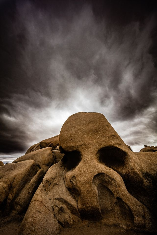 Skull Rock & Storm Clouds, Joshua Tree National Park