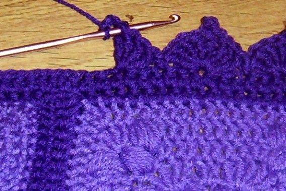 Best Looking Edging For Baby Blanket Crochet Pinterest
