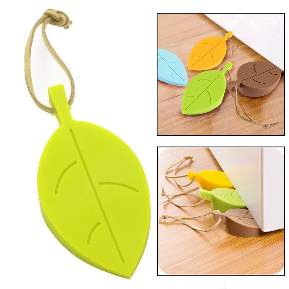 Amazon Com Stanaway Rubber Leaf Door Stopper 4 Pcs Colorful Soft Silicone Door Stops Durable Leaf Stylish Door S Door Stopper Stylish Doors Foam Door Stopper