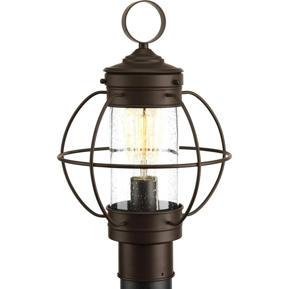 Progress Lighting Haddon Collection 1 Light Outdoor Antique Bronze Post Lamp P540015 020 Post Lights Outdoor Post Lights Lamp Post Lights