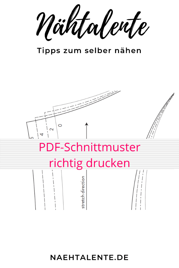 PDF Schnittmuster drucken, so geht es mit dem Downloadschnitt ...
