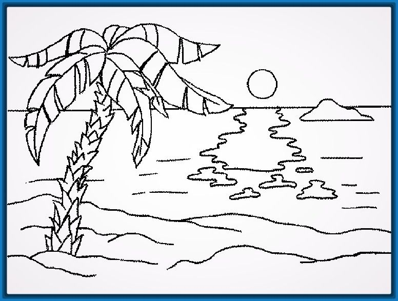 Worksheet. Dibujos faciles y lindos de paisajes  Trazos paso a paso