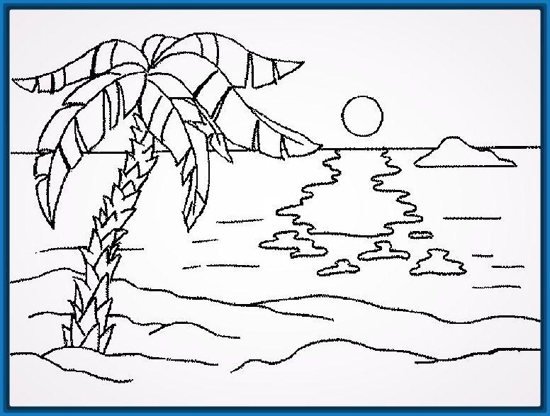 Dibujos Faciles Y Lindos De Paisajes Paisaje Para Colorear Paisajes Para Pintar Faciles Dibujos Para Colorear Paisajes