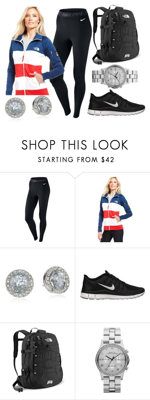 """""""School outfit"""" by stylesbowtie ❤ liked on Polyvore featuring NIKE, The North Face, Juicy Couture and Marc by Marc Jacobs"""
