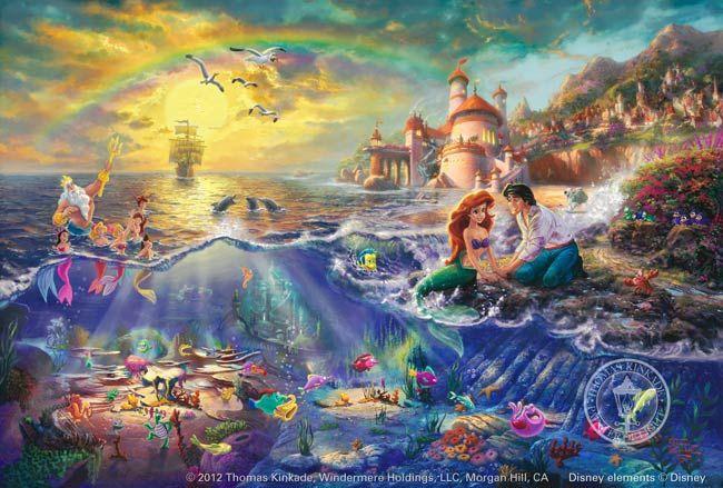 Little Mermaid by Thomas Kinkade