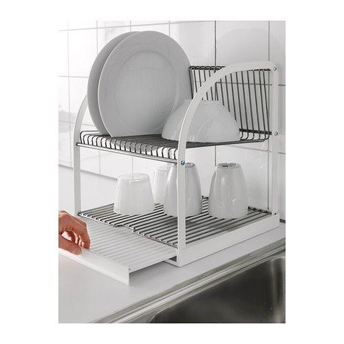 best ende abtropfgestell silberfarben wei k che wohnk che und rund ums haus. Black Bedroom Furniture Sets. Home Design Ideas