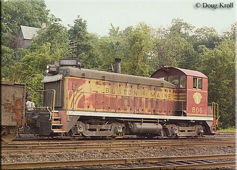 Boston /& Maine 1265 Westboro roundhouse yard West Lebanon NH 1970