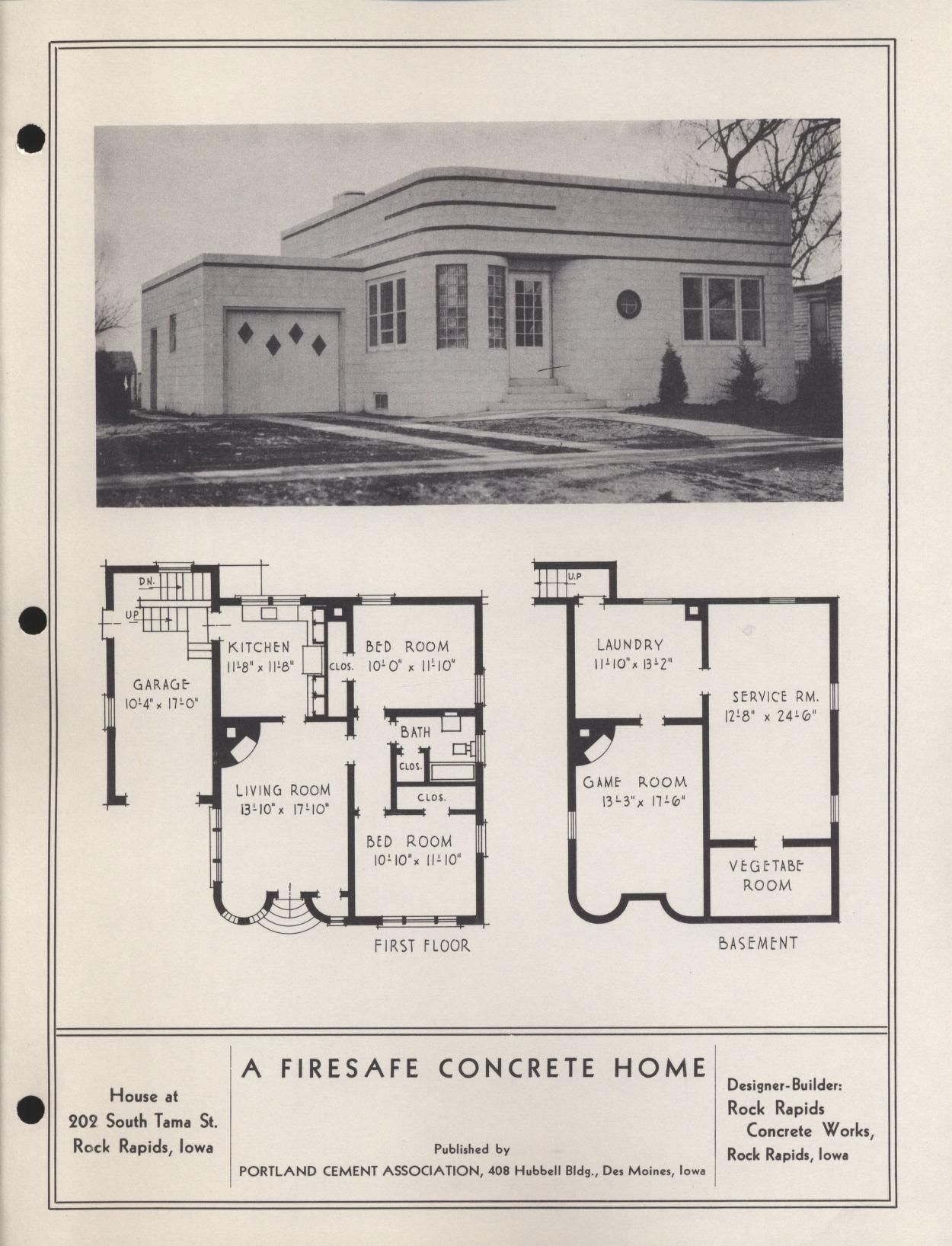 Iowa Conrete Houses Portland Cement Assoc Free Download Borrow And Streaming Internet Archive Concrete Houses Streamline Moderne Architecture Art Deco Buildings