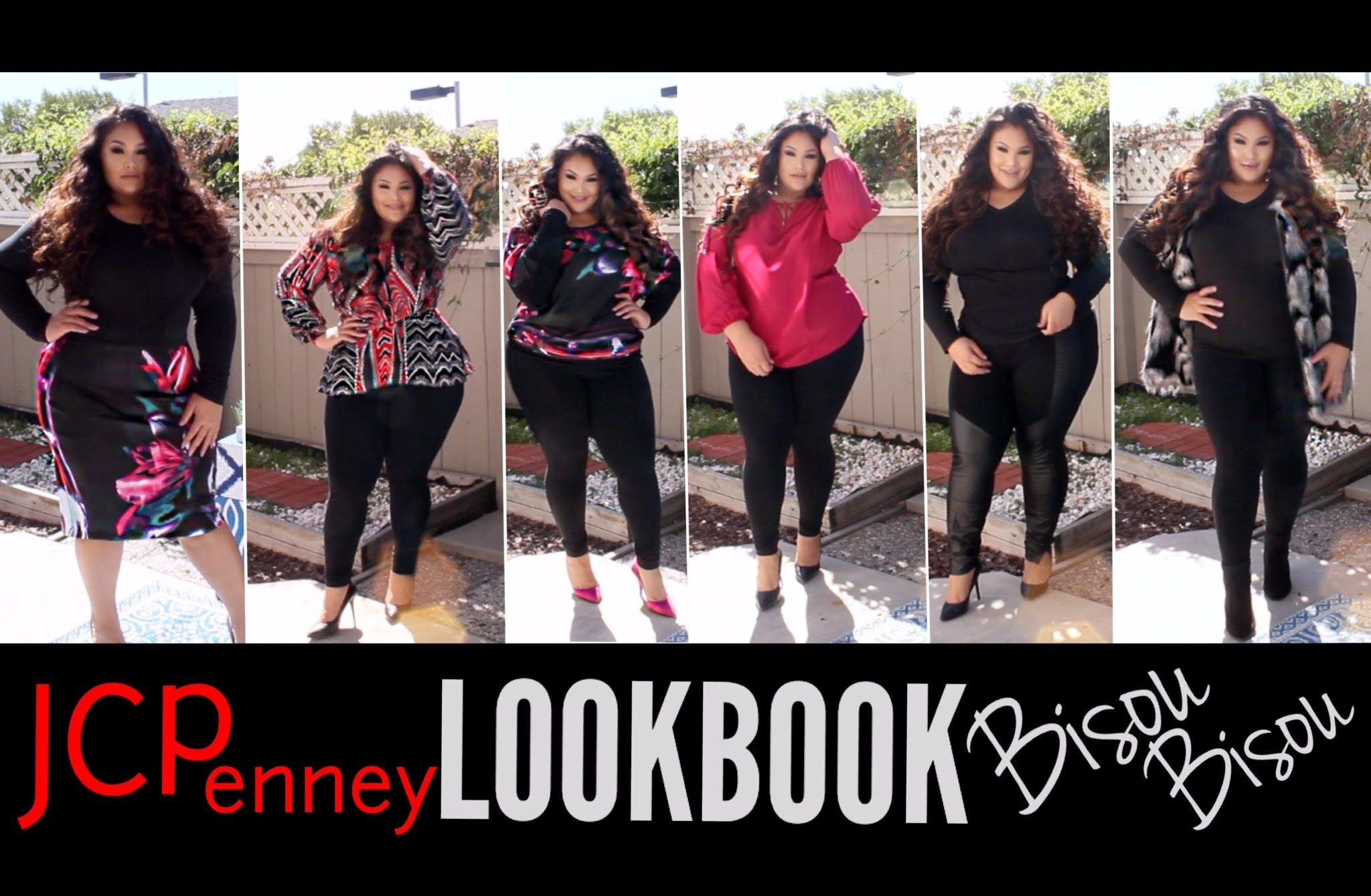 Plus Size Fashion JCPenney/Bisou Bisou Look Book