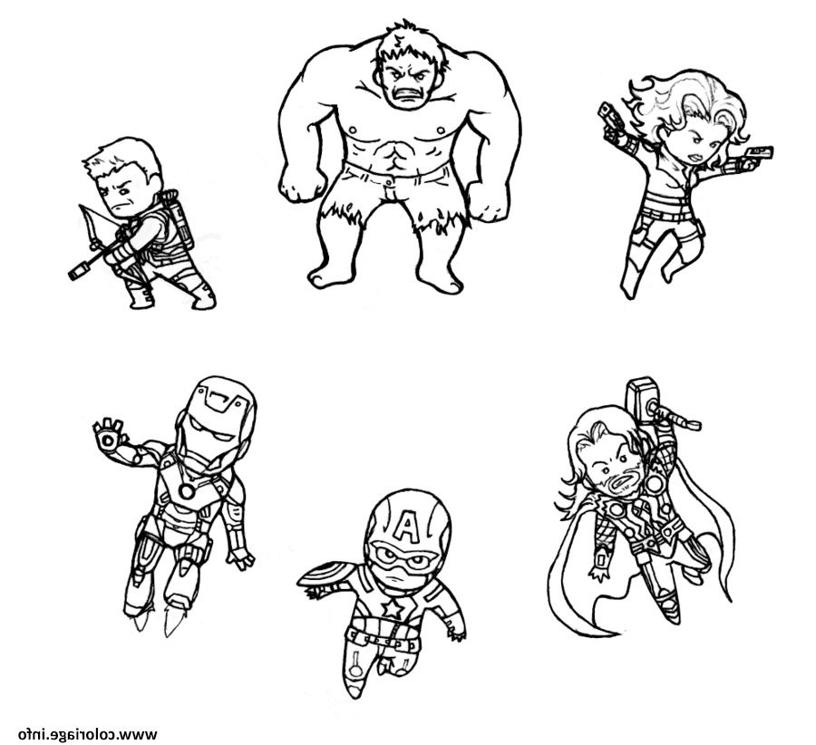 Mini Avengers Marvel Coloriage Dessin Avengerdessin0d In 2020