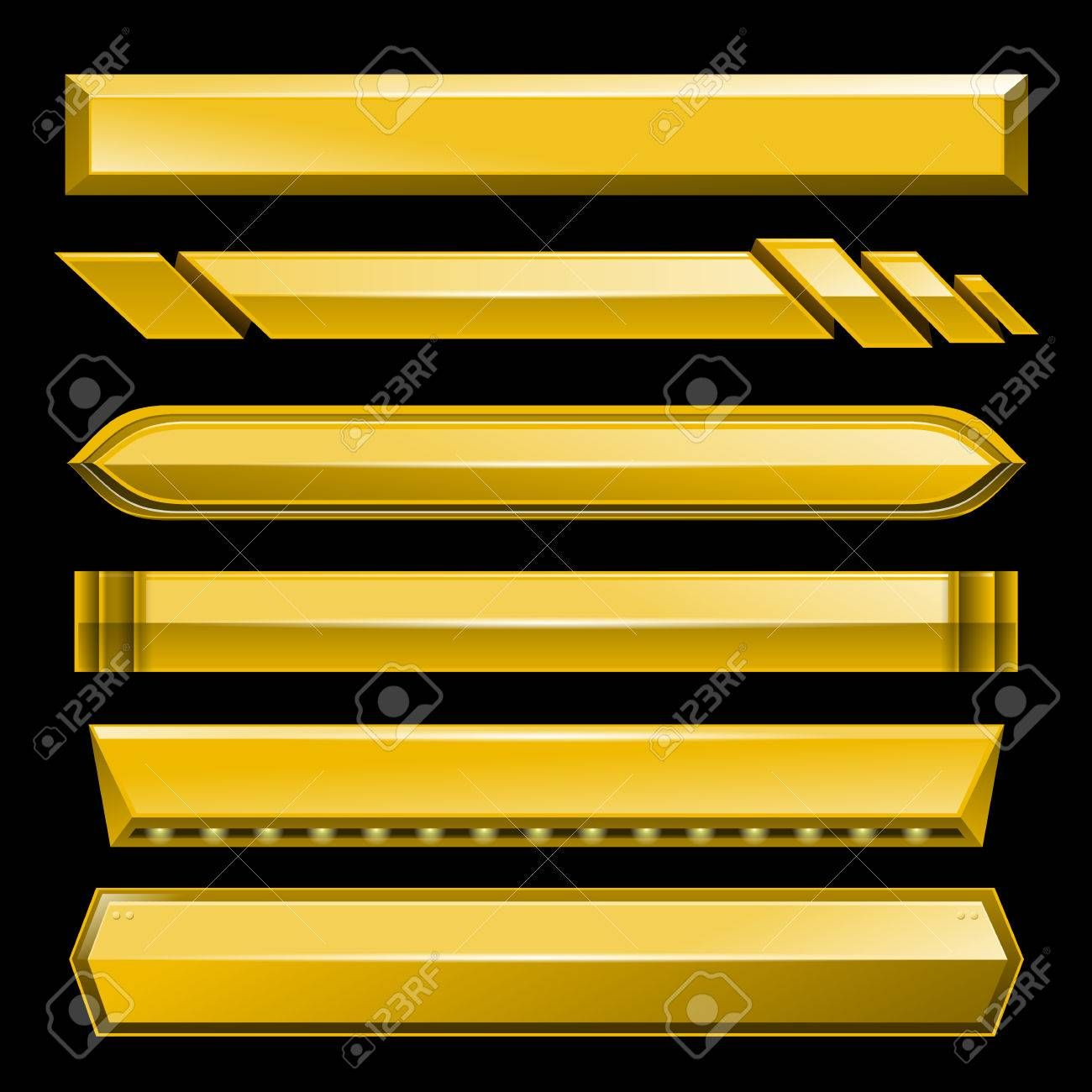Golden Lower Third Banner Bar Screen Broadcast Vector Illustration Royalty Free Cliparts Vectors And Stock Lower Thirds Youtube Design Vector Illustration